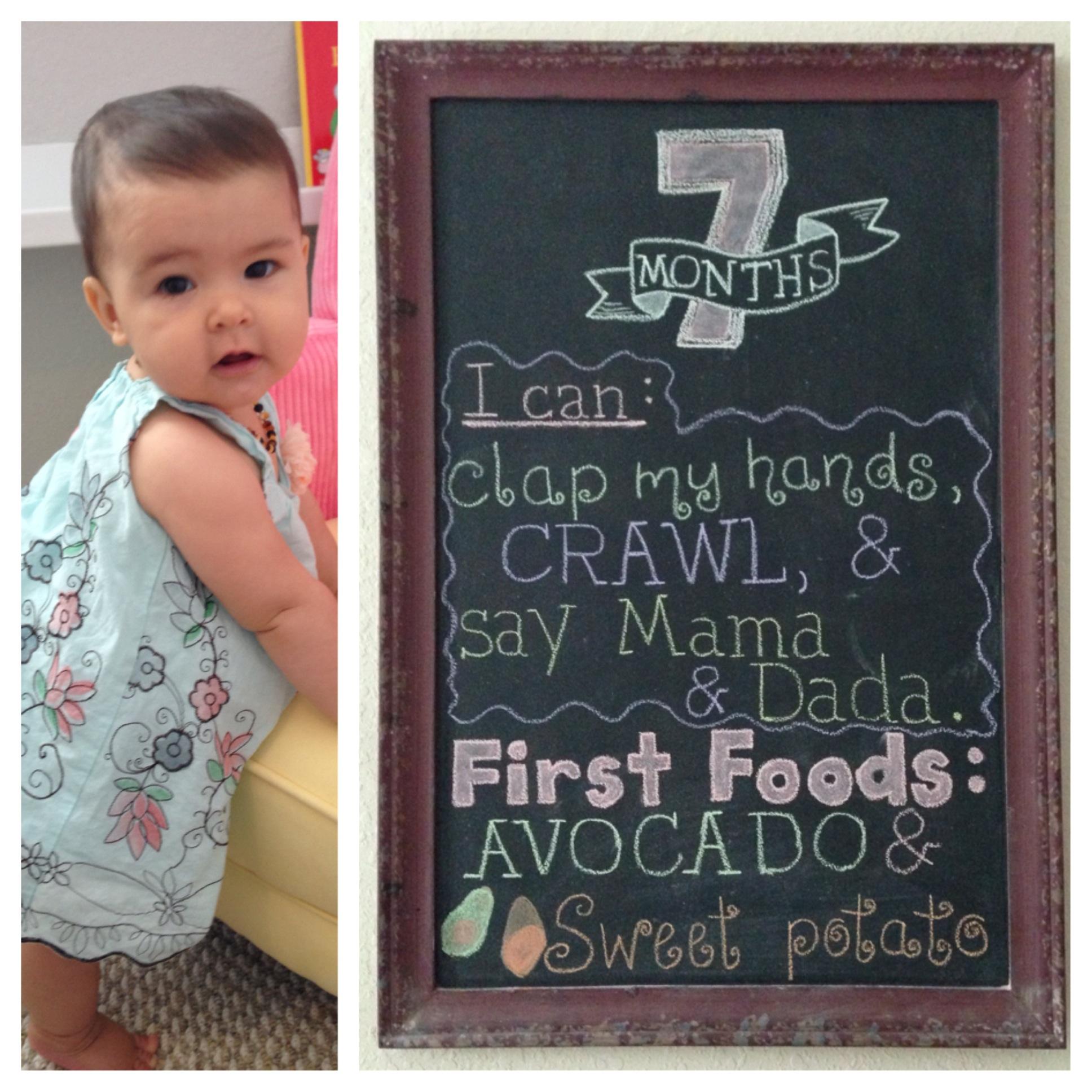 Seven Month Milestone Chalkboard